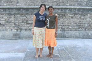 In Anuradhapura with Nishanthi