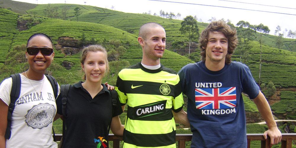 Jack and friends in Nuwara Eliya