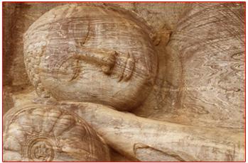 A Buddha statue in Polonnaruwa