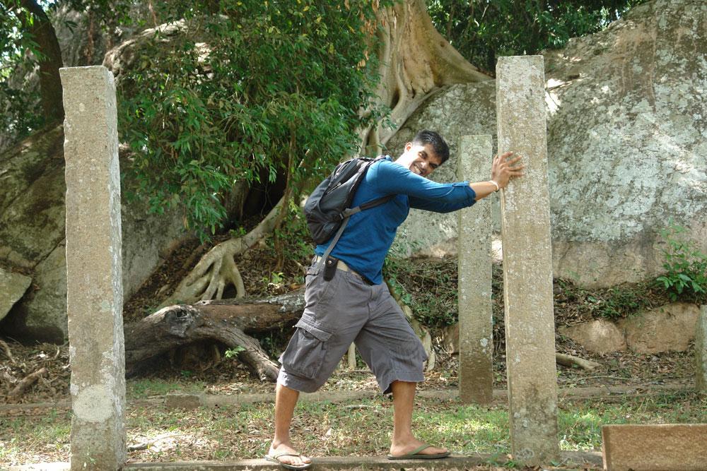 At Mihintale, Anuradhapura