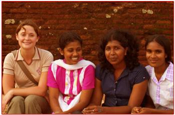With the youth at Horizon Lanka