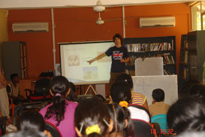 Students from Siddhartha with AIESEC volunteers