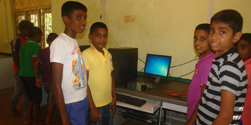 Boys after setting up a PC