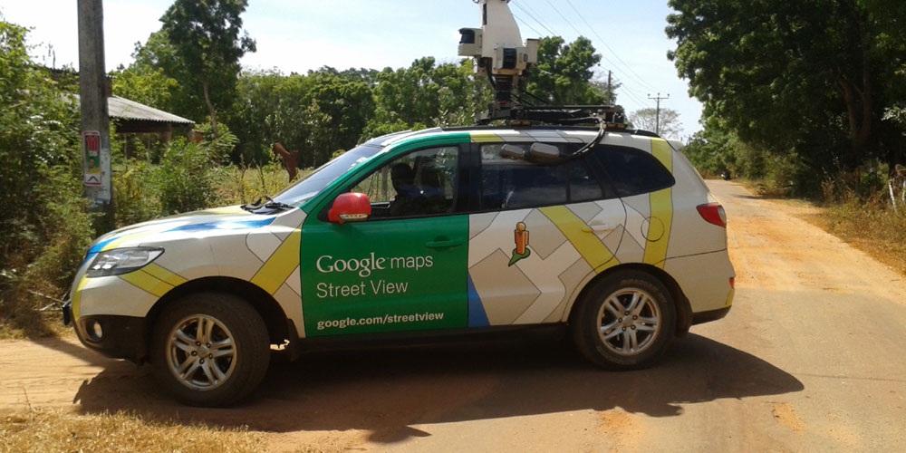 Google Maps Car Updating Mahawilachchiya Roads and Byroads