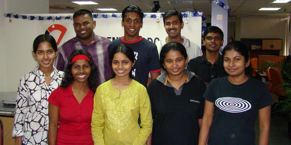 Radhika, Ruvini and Iresha with Eurocenter DDC team.