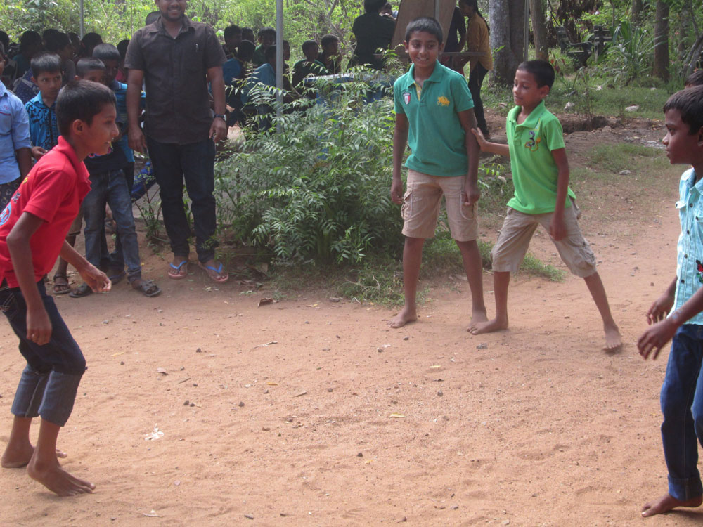 Children playing a folk game
