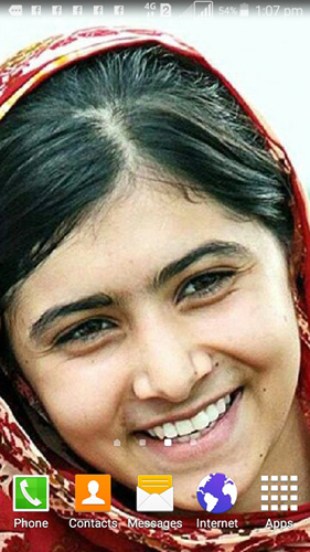Malala's picture as my mobile phone's wallpaper