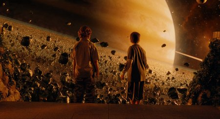 A scene from the movie Zathura: A Space Adventure