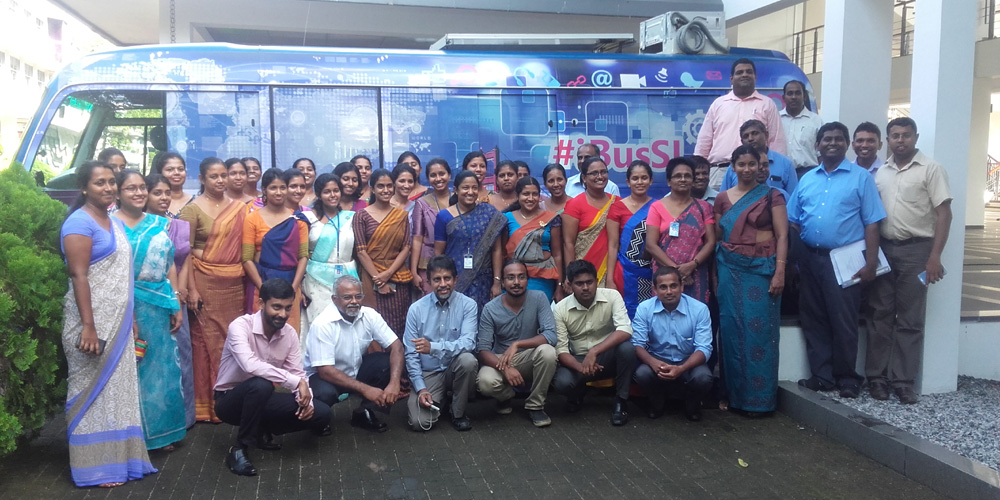 "Attendees of ""Full STEAM Ahead"" workshop at NIE, Maharagama"
