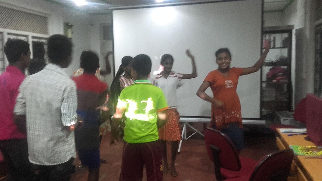 Practicing an Arabic dance item