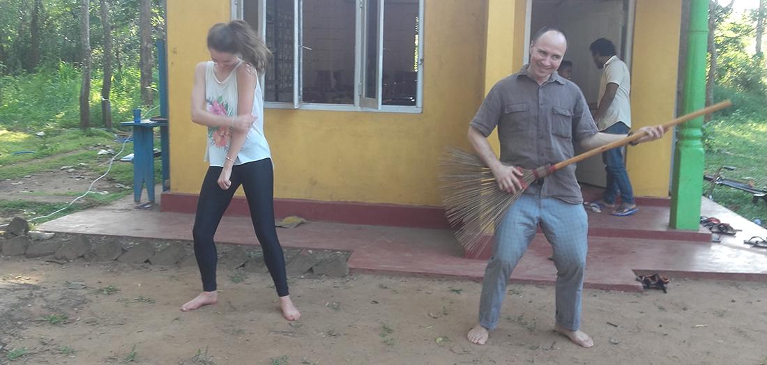 Dmitri Smirnoff and Emilie Demellayer having fun at Horizon Lanka
