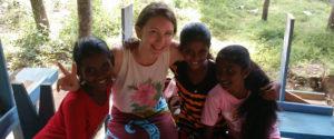 Emilie Demellayer with Horizon Lanka girls