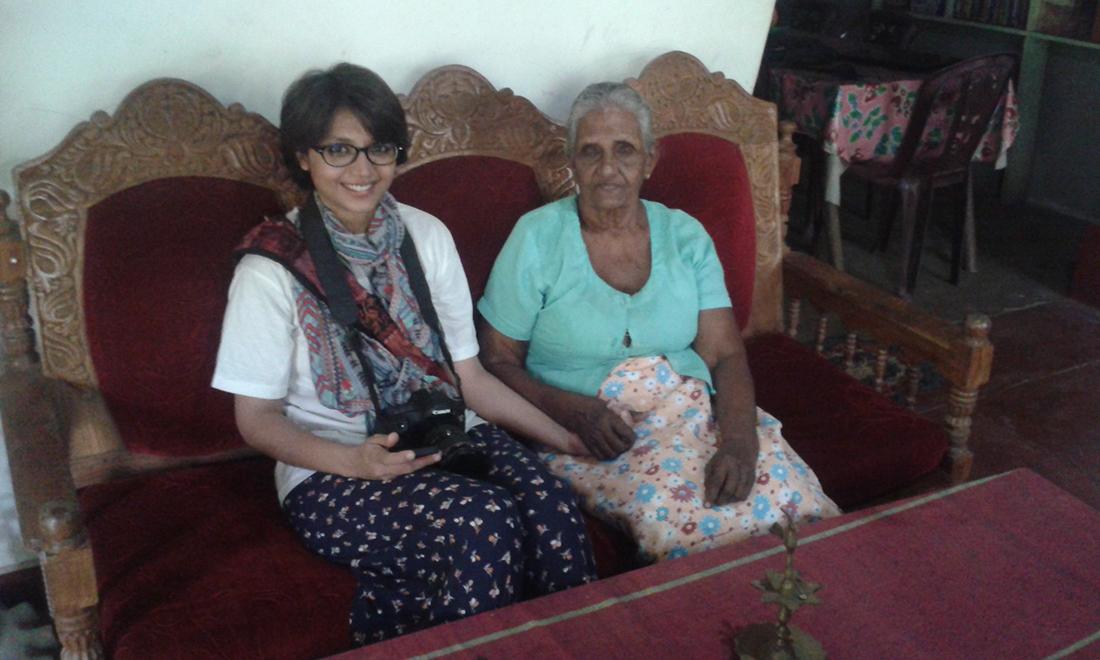 Nayab Rehman with Mr. Nnda Wanninayaka's mother.