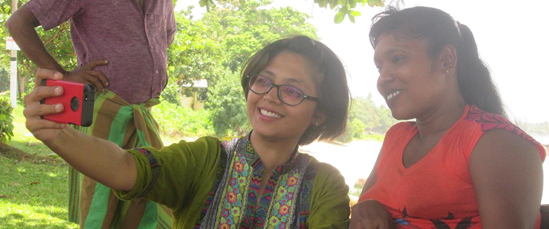 Miss Nayab Rehman at Koggala, Galle