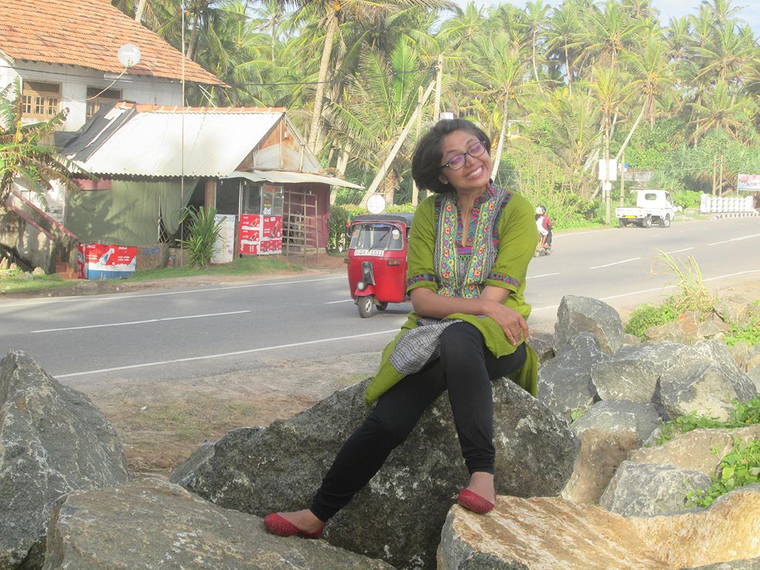Miss Nayab Rehman in Koggala, Galle