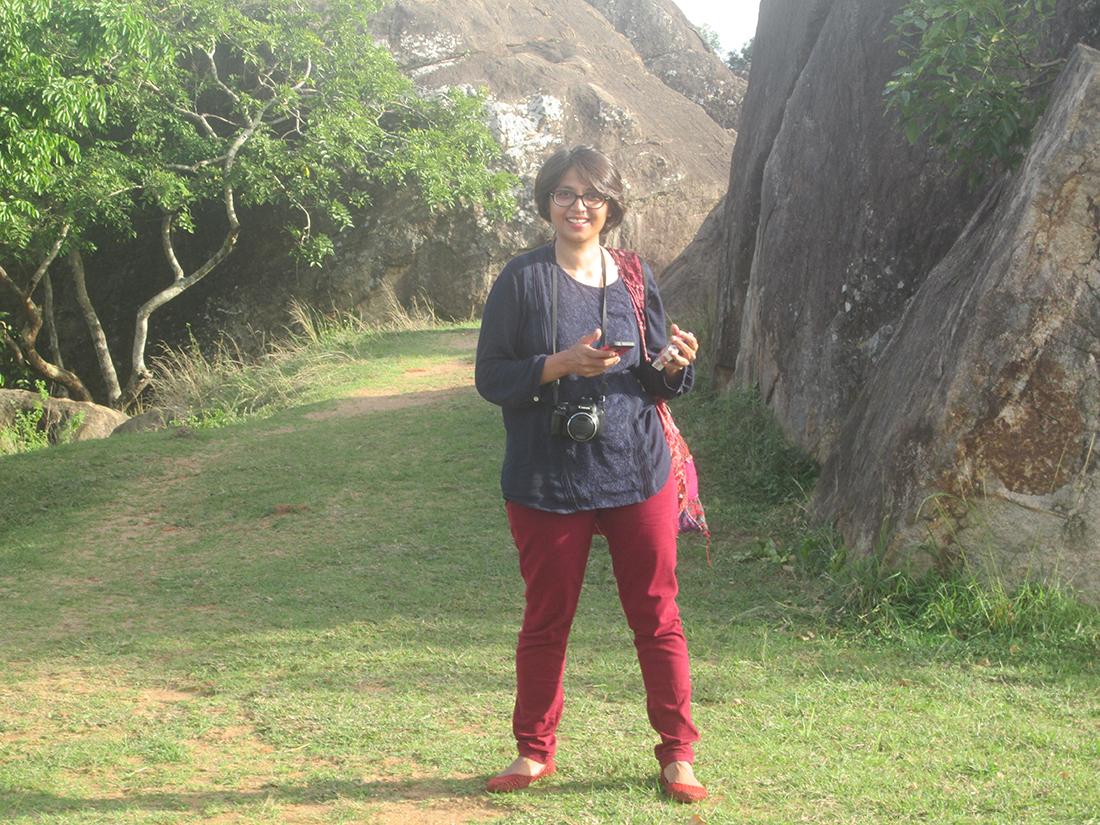 Miss Nayab Rehman at Wessa Giriya in Anuradhapura