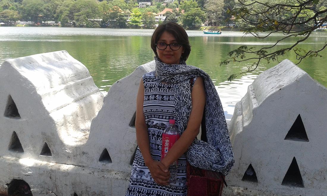 Miss Nayab Rehman at Bogambara Wewa, Kandy