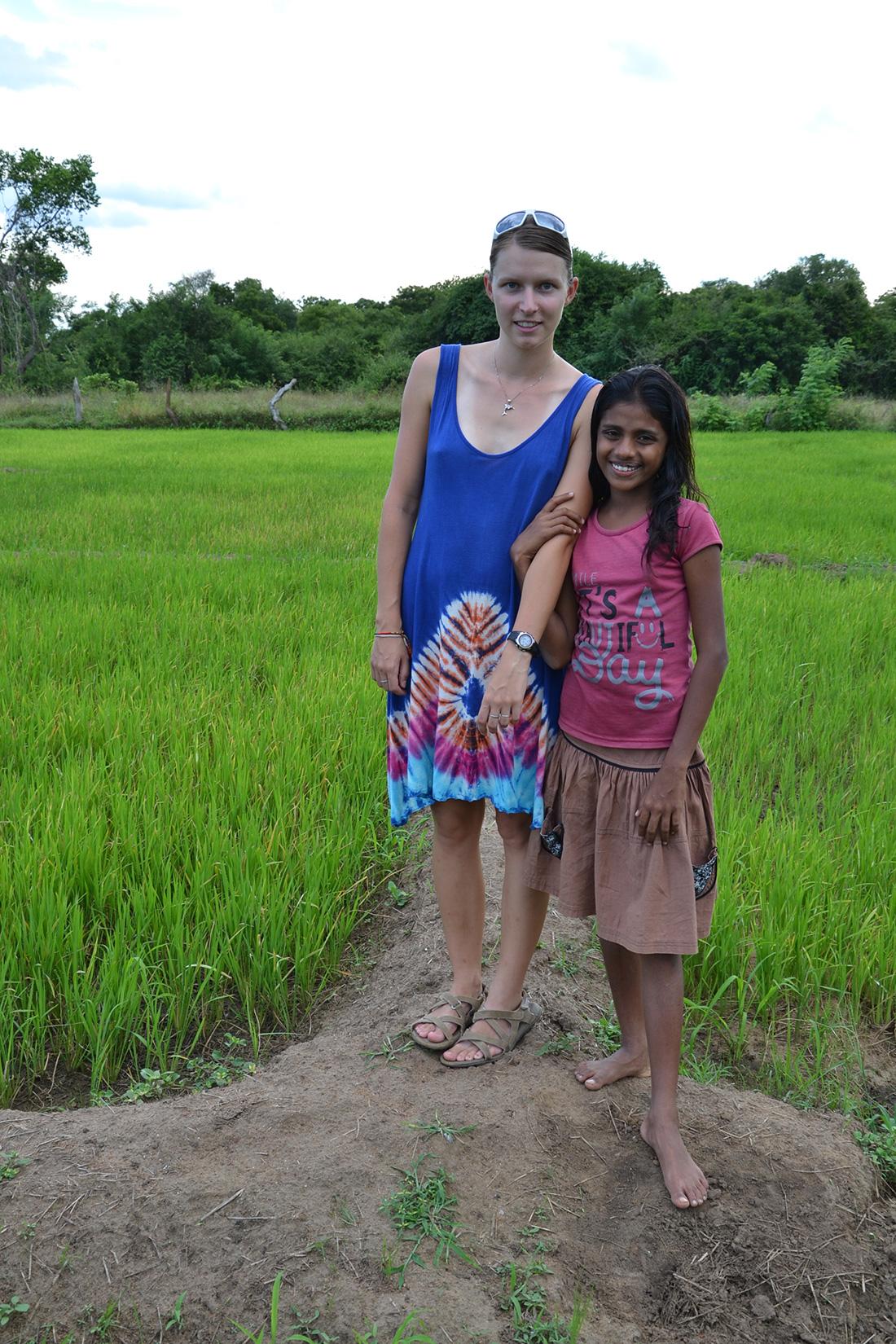 With my host's cute daughter, Sachini Tharuka