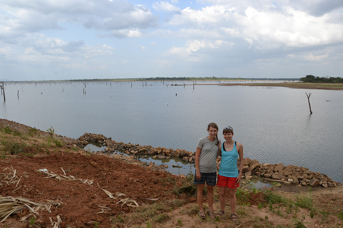 With my sister at Mahawilachchiya Wewa, an ancient manmade reservoir during a trip with Horizon Lanka team