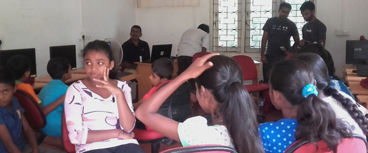 Horizon Lanka students at the workshop