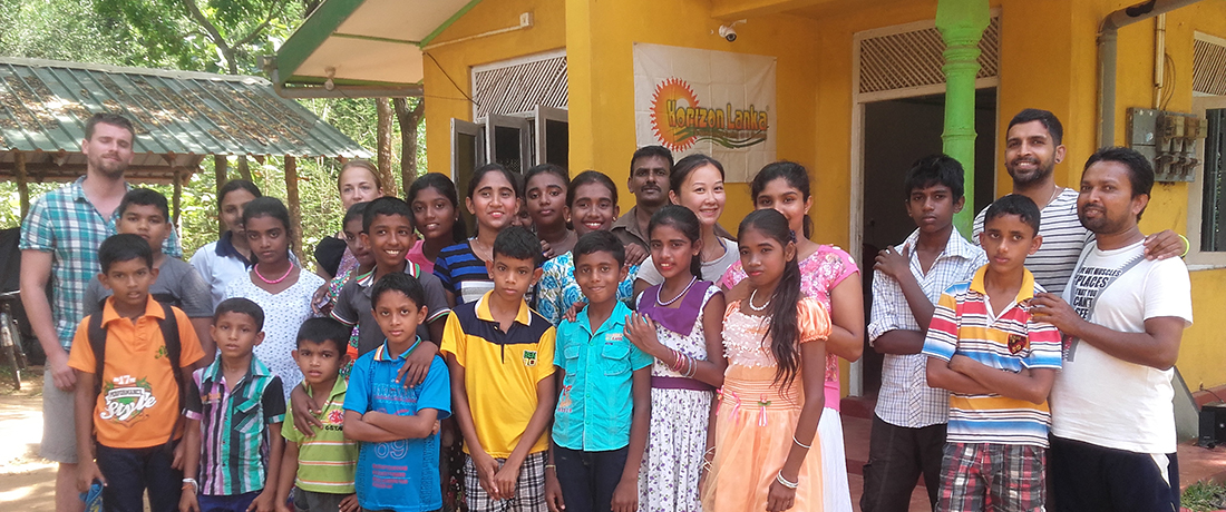 The Bliss Project team with Horizon Lanka students and the staff