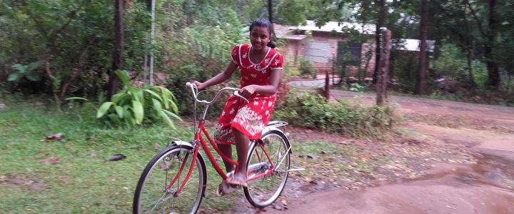 Nimanditha Thathsarani Dissanayaka in her bike