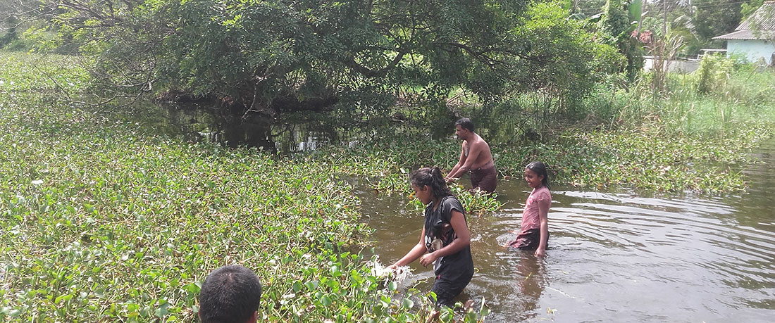 Cleaning the Sadasarana Reservoir