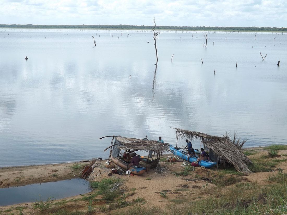 Mahawilachchiya reservoir in Mahawilachchiya