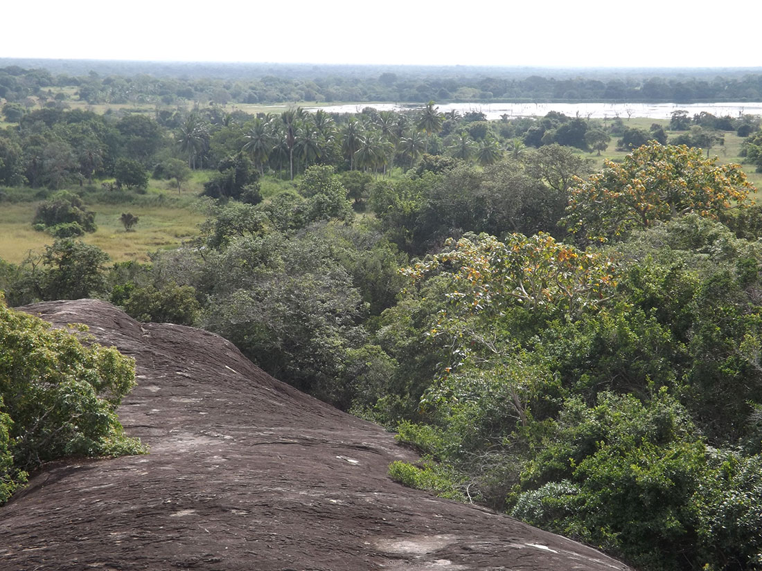 Panorama view of Tantirimale rocks, Mahawilachchiya