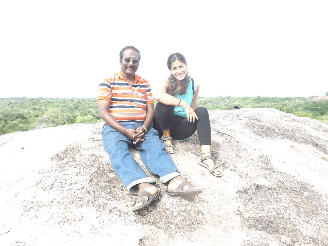 Cristina Medina with Prince Leonard from India