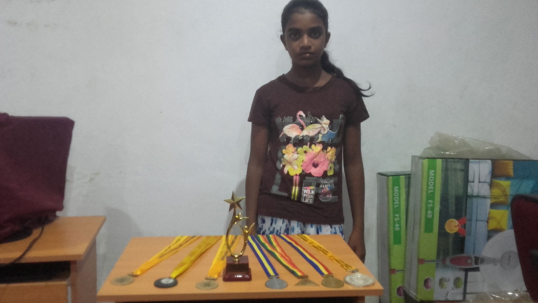 Pramodhya Umayangani with her medals