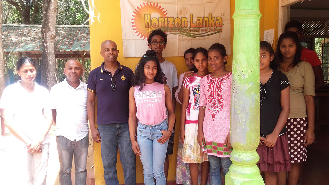 Mr. Buddika Gajapala family with Horizon Academy students