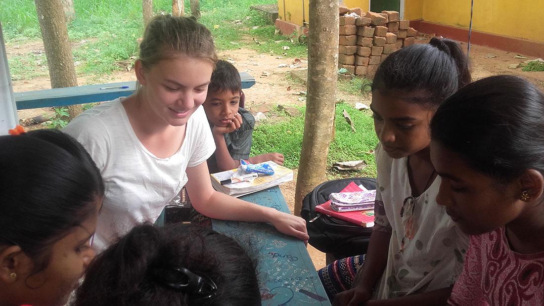 Lucie Barbier at Horizon Academy, Mahawilachchiya