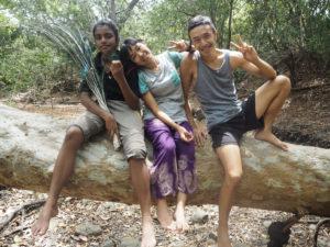 Wong Yuen Sam Diana in Mahawilachchiya forest.