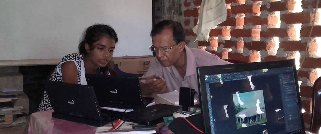 Students learning computers at Horizon Academy, Anuradhapura City