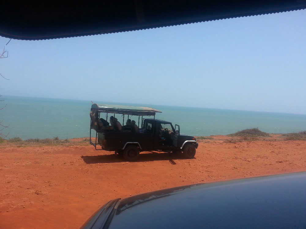 Safari jeep in  Wilpattu National Park