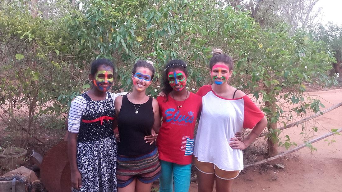Helena Palmeira having fun with the Horizon Lanka students