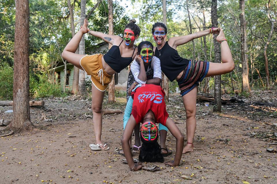 Helena Palmeira doing yoga practices at Horizon Lanka