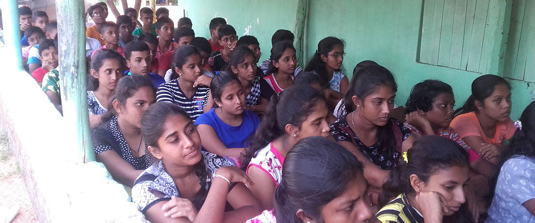 Students at the first awareness event at Ranpathvila on September 26, 2017