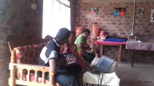 Dialog technical team at Aruni Apsara's house in Mahawilachchiya