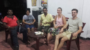 Nanda, Madhu, Sugath, Melissa and Quentin at a meeting at Namal's house.