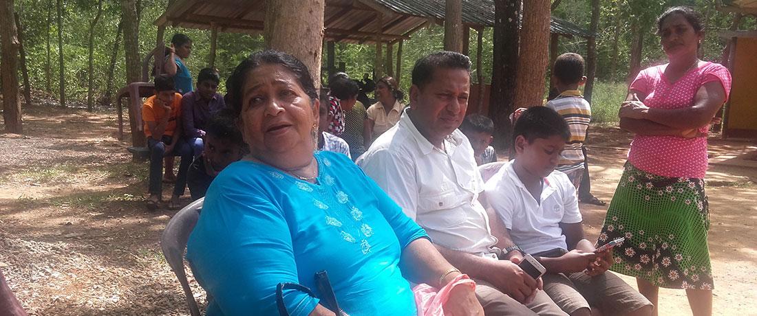 Visitors from Colombo relaxing at Horizon Academy, Mahawilachchiya