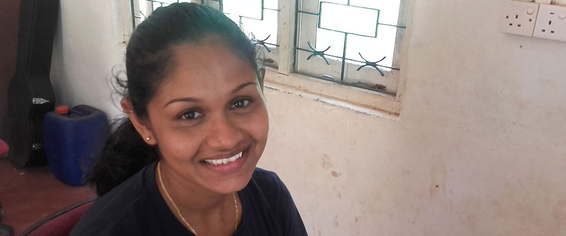Nadeeka Kumarasingha - aspiring to be an English teacher.