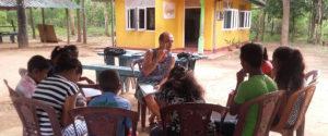 Qurro Lopez teaching the students at Horizon Academy - Mahawilachchiya.