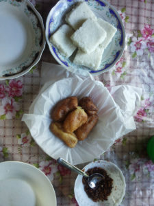 Sri Lankan food cooked at Sanduni's house