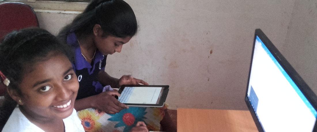 Horizon Academy students using internet through Dialog 3G coverage