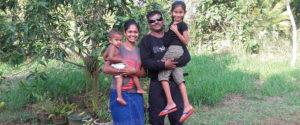 With my former student Nadeeka Kumarasingha and her kids.