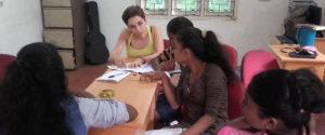 Miss Paula Pazos Dopazo teaching the students of Horizon Academy - Mahawilachchiya