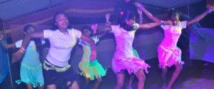 Students of Horizon Academy - Mahawilachchiya dancing to Shakira's song Waka Waka,