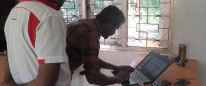 Dialog Axiata technicians checking Dialog 4G signals inside the Horizon Academy - Mahawilachchiya